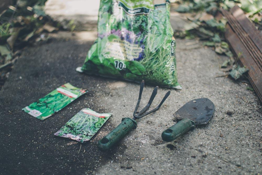 Nástroje potrebné na pestovanie rukoly