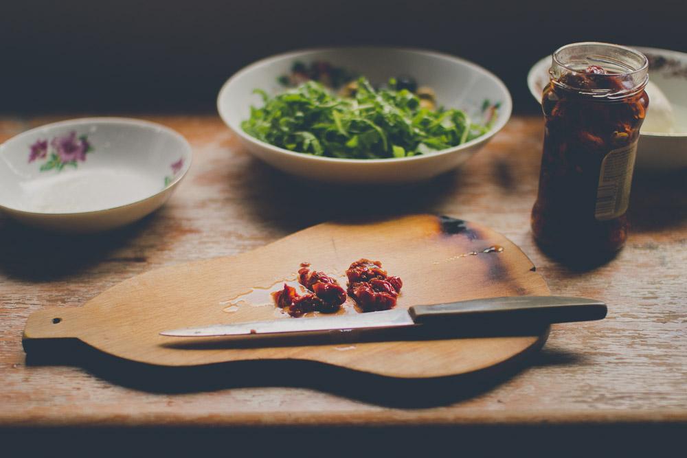 Sušené paradajky a mozzarella